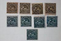 Mexico Revenue Timbre Special Customs Aduanas 1890-1891 set $100p pesos used