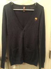 Fangamer Octodad Video Game Blue Marled Cardigan Sweater XS X-Small