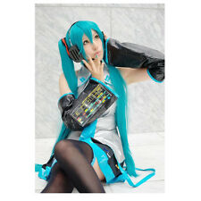 120cm Vocaloid Hatsune Miku Show Anime Costume Cosplay Party Hari wigs + Wig Cap