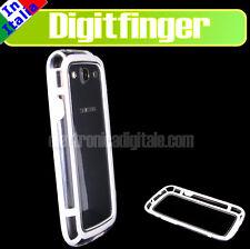 Samsung GALAXY S3 I9300 Cover BUMPER TPU Bianco semirigido antiurto + PELLICOLA