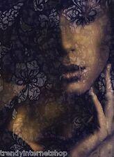 Vlies Fototapete Wandbild Komar Lace XXL2-012 Frau Gesicht Design 184 x 248 cm