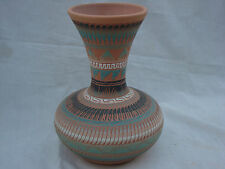 """Handmade Navajo Pottery Vase 9.5"""" T Signed by by Evelyn J USA Brand NEW GREAT"""