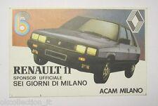 VECCHIO ADESIVO AUTO anni '80 / Old Sticker RENAULT 11 (cm 12 x 8) b