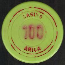 Chile Casino of Arica $100 Chip (verde claro #2)