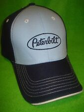 PETERBILT HAT:        DARK BLUE / LIGHT BLUE / DOUBLE UP CAP    *FREE SHIPPING*