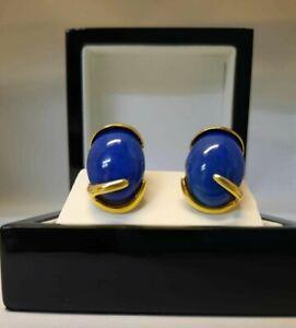 Earrings Lapis Lazuli  18ct yellow Gold