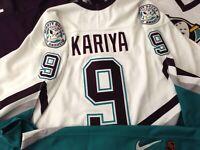 Paul Kariya Anaheim Mighty Ducks Nike Authentic Fight Strap Jersey Size 48 XL