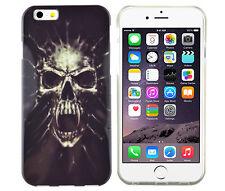 TPU Schutzhüllle f iPhone 6 6S Case Cover Etui Tasche Totenkopf Zombie Skull