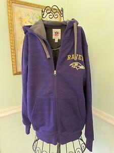 BALTIMORE RAVENS NFL TEAM APPAREL Full Zip Sweatshirt PURPLE NWT $99