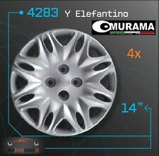 4 original murama 4283 copri ruota per 14 POLLICI CERCHI LANCIA Y ELEFANTINO Grigio Nuovo