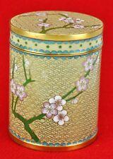 Vintage Chinese Cloisonné box / jar / cigarette holder with lid 4 (Bi#Mk/181129)