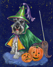 "Precious Pet Garden Flag - Schnauzer Good Witch 12"" x 18"" ~ Charity!"