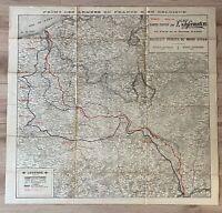 ANCIENNE CARTE MILITAIRE WW1, 1917, FRONT ARMÉES FRANCE ET BELGIQUE