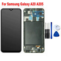 For Samsung Galaxy A20 A205 LCD Display Touch Screen Digitizer Frame Replacement
