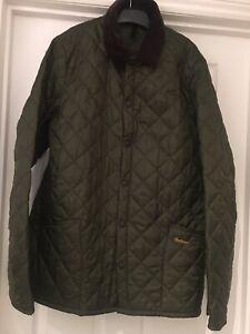 Mens GENUINE Barbour Jacket In Green XL
