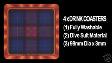 4  x  SCOTTISH TARTAN - CLAN - PRIDE OF SCOTLAND - DRINK COASTERS - Re-usable