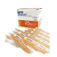 "NIPRO HYPODERMIC Dispensing NEEDLE 25g x 1 1/2"" (0.5 x 40 mm)100 pieces"