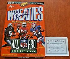 Jerry Rice and Tim Brown Signed Wheaties Box COA Autographed NFL Empty box