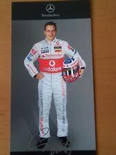Gary Paffett 2007 Autogrammkarte mit gedruckter Unterschrift von Mercedes
