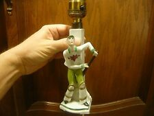 VINTAGE RARE Cricket Player Porcelain Working Lamp Antique Germany 952 Bat Ball
