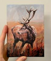 ORIGINAL Stag Painting  - British Handmade Art Original Presale
