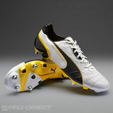 Puma Spirit Rugby Mixed Sg Adults White/black/yellow Boots Size 7.5 RRP £95