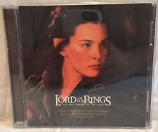 Lord of the Rings Fellowship of the Ring Soundtrack Audio CD with Case & Insert
