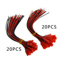 20 Set 150mm Male Female JST Plug 2-pin Cable Connector Wire For RC Lipo Battery
