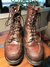 Vtg Red Wing Shoes Boots Harness Tall Work Oil Resistant Safety Toe Sz 9? 912