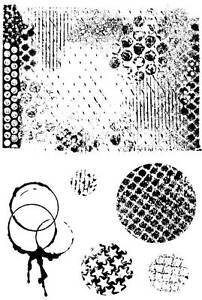 Unmounted rubber stamps - Grunge set 1