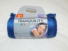 Kid'S Weighted Blanket Sleep Aid Touch Pressure Therapy With Cover 6 Lbs Blue