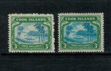 Cook Islands SG145 var, Center printed double, see description, 1945, KGVI