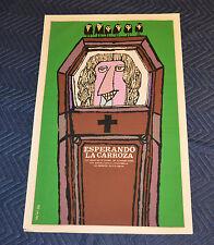 1986 Original Cuban Silkscreen Movie Poster.Esperando la carroza.Argentina film