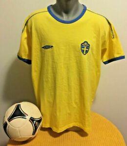 SWEDEN SvFF Retro Football T- Shirt Soccer Jersey Trikot Camiseta Maillot #8
