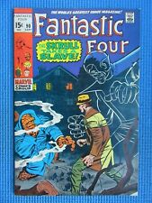 FANTASTIC FOUR # 90 - (FINE) -THE SKRULL TAKES A SLAVE -THING,TORCH,MR FANTASTIC