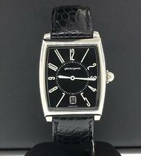 Gerald Genta Solo SSO-M-10-004-CN-BA Stainless Steel Black Leather Strap