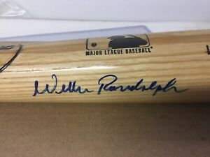 YANKEES auto WILLIE RANDOLPH signed Manny Ramirez model LVS bat STEINER CER