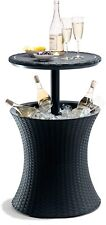 Keter Pacific Rattan Style Outdoor Cool Bar Ice Cooler Table Garden Furniture -