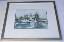 Mareia Derry  Reflections Watercolour Framed Painting