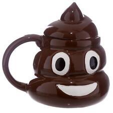 Tasse Poop Kackhaufen mit Deckel - lustiger Kaffeebecher XL 3D Kacke Kot 400 ml