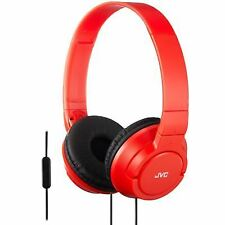 JVC Hasr185rn Powerful Bass Headphone With Remote Mic - Red
