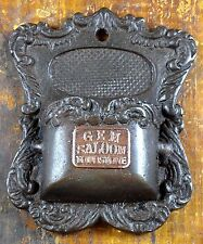 Ornate Cast Iron Brass Tag Gem Saloon Tombstone AZ Arizona Match Holder Striker