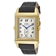 $1,250 LE Rotary Swiss Made Reversible Reverso Unisex Watch Gold TZ2 Evolution