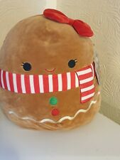 GINA SQUISHMALLOW 12'GINGERBREAD GIRL SUPER SOFT PLUSH BRAND NEW WITH TAGS
