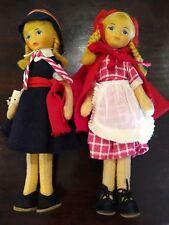 Antique Wool Swiss Schweizer Heimatwerk Dolls From The 1930's