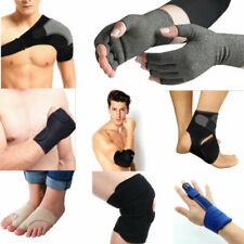 Anti Arthritis Copper Fingerless Gloves Finger Protector Hank Knee Ankle Support