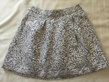 BEHNAZ SARAFPOUR for TARGET Metallic Silver Brocade Bubble Skirt Size 5 Preowned