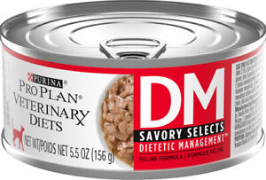 Purina Pro Plan Veterinary Diets DM Savory Selects Dietetic Management  Canned