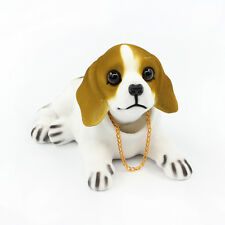 Shaking Head Lucky Dog Environmental Toys Car and Office Ornament Beagle White