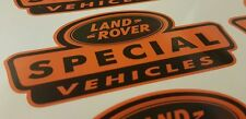 3 x orange land rover spécial véhicule stickers defender disco 90 110 TD5